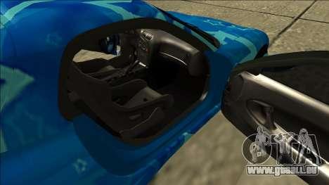 Mazda RX-7 Drift Blue Star pour GTA San Andreas vue intérieure