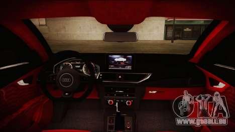 Audi RS7 Sportback 2015 pour GTA San Andreas salon