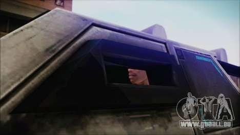 Hummer H2 C.E.L.L. Crysis 2 pour GTA San Andreas sur la vue arrière gauche