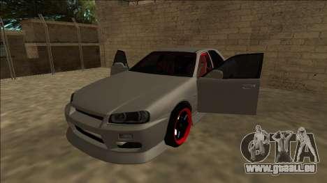 Nissan Skyline ER34 Drift für GTA San Andreas Rückansicht