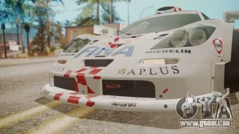 McLaren F1 GTR 1998 Team BMW pour GTA San Andreas vue de dessous