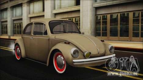 Volkswagen Beetle 1973 für GTA San Andreas Innenansicht