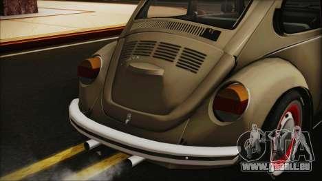 Volkswagen Beetle 1973 für GTA San Andreas Rückansicht