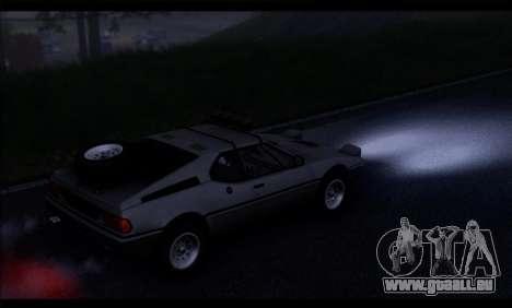 BMW M1 E26 Rusty Rebel pour GTA San Andreas vue de droite