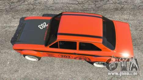 GTA 5 Ford Escort MK1 v1.1 [HRE] vue arrière