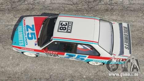 GTA 5 BMW M3 (E30) 1991 [Z5] v1.2 vue arrière