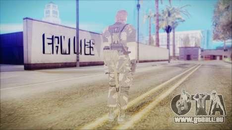 MGSV Phantom Pain Snake Normal Splitter pour GTA San Andreas troisième écran