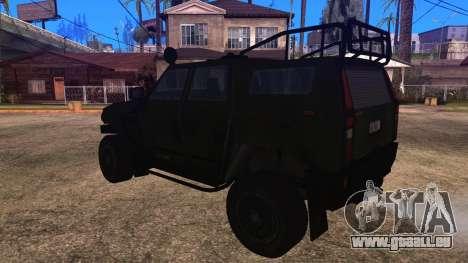 Komatsu LAV 4x4 Unarmed pour GTA San Andreas laissé vue