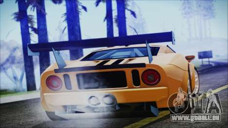 Ford GT-R mk.7 pour GTA San Andreas laissé vue