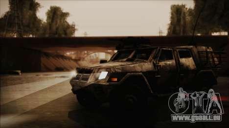 Joint Light Tactical Vehicle pour GTA San Andreas vue de droite