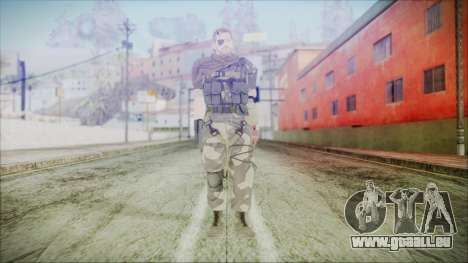 MGSV Phantom Pain Snake Scarf Splitter pour GTA San Andreas deuxième écran