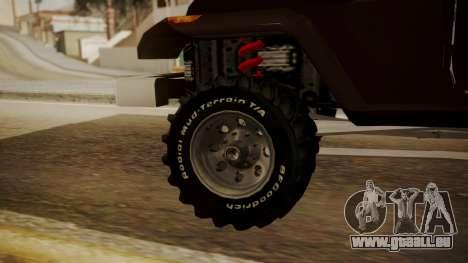 New Mesa Wild pour GTA San Andreas sur la vue arrière gauche