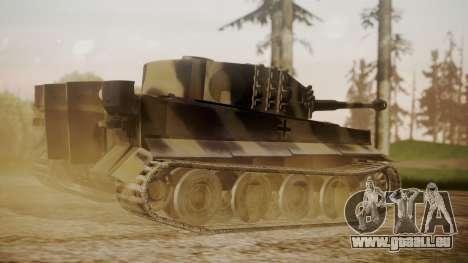Panzerkampfwagen VI Tiger Ausf. H1 No Interior pour GTA San Andreas laissé vue