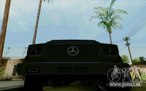Mercedes-Benz G500 1999 pour GTA San Andreas vue intérieure