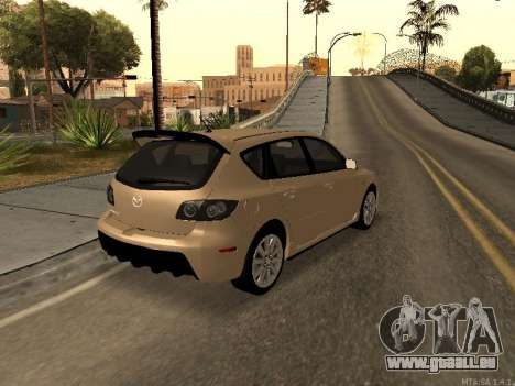Mazda 3 MPS Tunable pour GTA San Andreas vue de droite