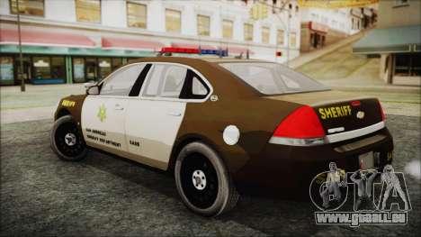 Chevrolet Impala SASD Sheriff Department für GTA San Andreas linke Ansicht