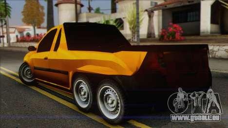 Dacia Logan Pickup 6x6 pour GTA San Andreas laissé vue