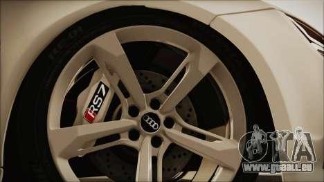 Audi RS7 Sportback 2015 für GTA San Andreas Rückansicht