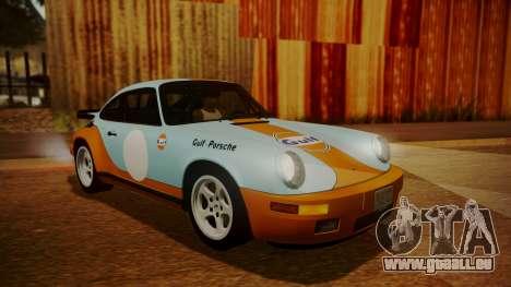 RUF CTR Yellowbird (911) 1987 HQLM pour GTA San Andreas vue de dessus