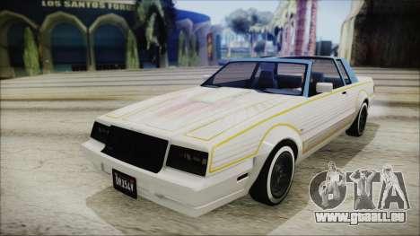 GTA 5 Willard Faction Custom IVF für GTA San Andreas Rückansicht