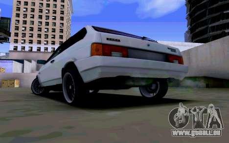 VAZ 2108 V2 pour GTA San Andreas sur la vue arrière gauche