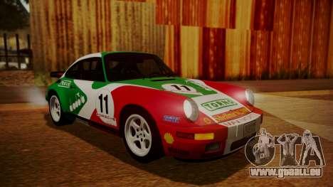 RUF CTR Yellowbird (911) 1987 HQLM pour GTA San Andreas vue intérieure