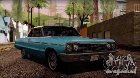 Chevrolet Impala SS 1964 Final pour GTA San Andreas laissé vue