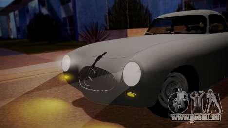 Mercedes-Benz 300 SL (W194) 1952 FIV АПП pour GTA San Andreas sur la vue arrière gauche