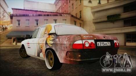 ГАЗ 31105 à la Dérive (Éternelle Summer Edition) pour GTA San Andreas laissé vue