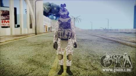 Bundeswehr Desert v3 pour GTA San Andreas deuxième écran