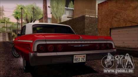 Chevrolet Impala SS 1964 Final pour GTA San Andreas vue intérieure