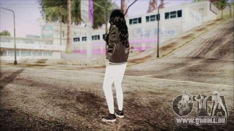 Home Girl White Pants pour GTA San Andreas troisième écran