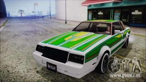 GTA 5 Willard Faction Custom Bobble Version IVF pour GTA San Andreas vue de côté
