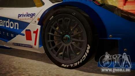 McLaren F1 GTR 1998 HarmanKardon pour GTA San Andreas sur la vue arrière gauche