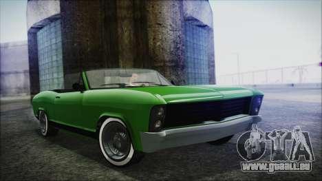 GTA 5 Albany Buccaneer Hydra Version IVF für GTA San Andreas