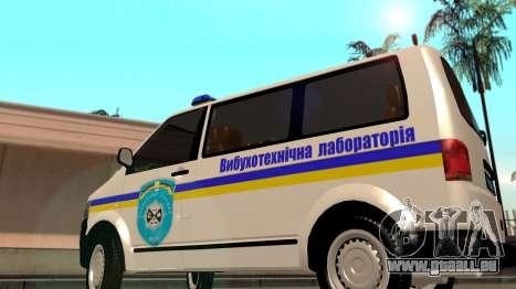 Volkswagen Transporter Minesweeper Ukraine für GTA San Andreas zurück linke Ansicht