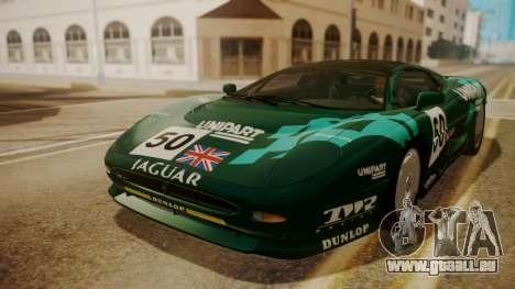 Jaguar XJ220 1992 HQLM pour GTA San Andreas vue de dessous