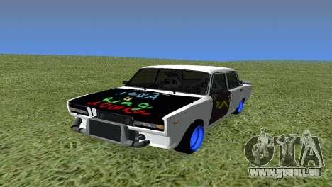 VAZ 2105 Bq Final pour GTA San Andreas vue arrière