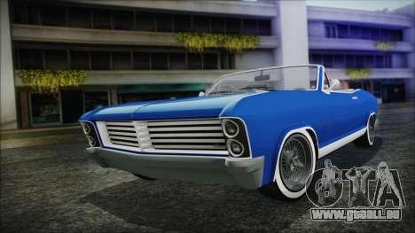 GTA 5 Albany Buccaneer Hydra Version pour GTA San Andreas