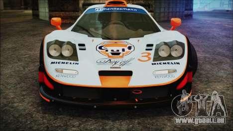 McLaren F1 GTR 1998 pour GTA San Andreas vue de dessus