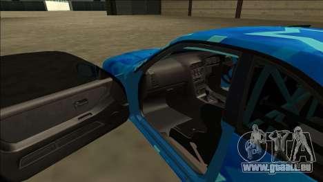 Nissan Skyline R33 Drift Blue Star pour GTA San Andreas vue de dessus