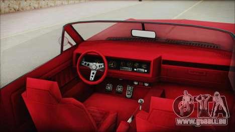 GTA 5 Albany Buccaneer Custom IVF pour GTA San Andreas vue de droite