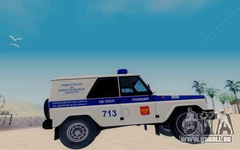 UAZ Hunter SPSP für GTA San Andreas linke Ansicht