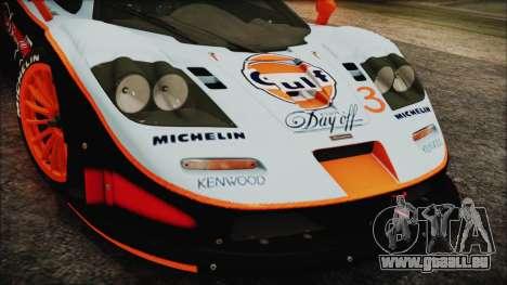 McLaren F1 GTR 1998 pour GTA San Andreas vue de droite