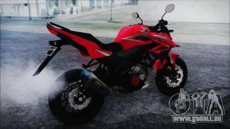 Honda CB150R Red pour GTA San Andreas laissé vue