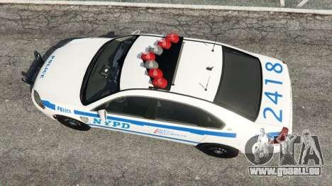 GTA 5 Chevrolet Impala NYPD vue arrière