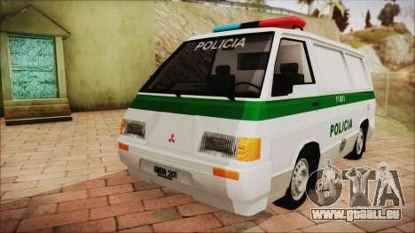 Mitsubishi L300 2008 Patrol Kolumbianischen Poli für GTA San Andreas