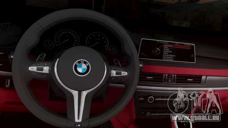 BMW X6M F86 v2.0 pour GTA San Andreas vue arrière