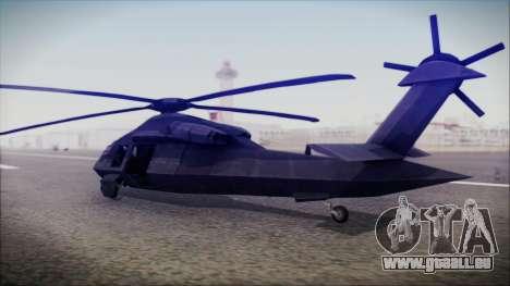 UH-80 Ghost Hawk pour GTA San Andreas laissé vue