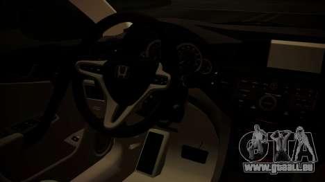 Honda Accord 2010 pour GTA San Andreas vue de droite
